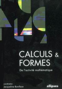 Calculs et formes de l'activité mathématique