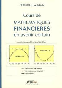 Cours de mathématiques financières en avenir certain