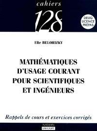 Mathématiques d'usage courant pour scientifiques et ingénieurs