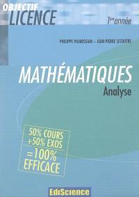 Mathématiques, analyse : 1re année