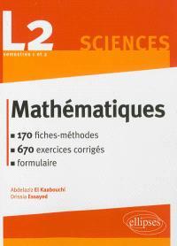 Mathématiques, L2 sciences semestres 1 et 2