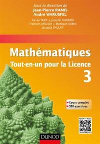 Mathématiques, tout-en-un pour la licence 3