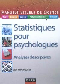 Statistiques pour psychologues : analyses descriptives