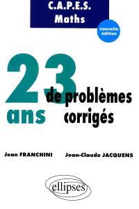 23 ans de problèmes corrigés