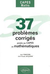 37 problèmes corrigés