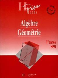 Algèbre-géométrie MPSI, 1re année
