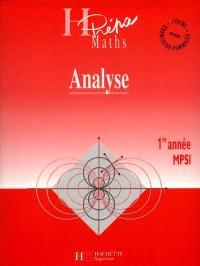Analyse MPSI, 1re année