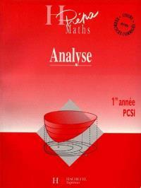 Analyse PCSI, 1re année