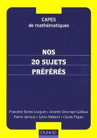 Capes de mathématiques : nos 20 sujets préférés