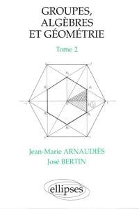 Groupes, algèbres et géométrie. Volume 2