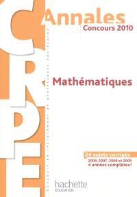 Mathématiques : concours 2010 : 24 sujets corrigés