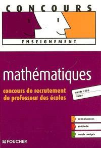 Mathématiques : concours de recrutement de professeur des écoles