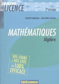 Mathématiques, algèbre : 1re année