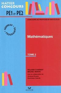 Mathématiques, PE1-PE2. Volume 2