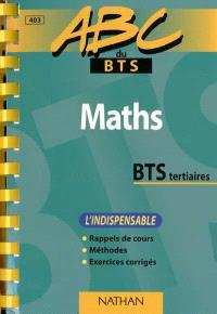 Maths BTS tertiaires : l'indispensable
