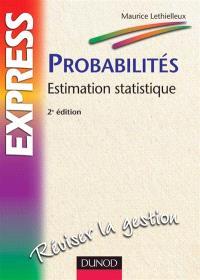 Probabilités : estimation statistique
