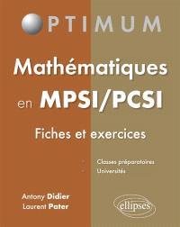 Mathématiques en MPSI-PCSI : fiches et exercices
