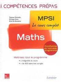 Mathématiques : 1re année : MPSI, le cours complet