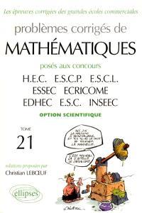 Annales de mathématiques HEC, option scientifique : best of 1998-2001