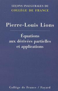 Equations aux dérivées partielles et applications
