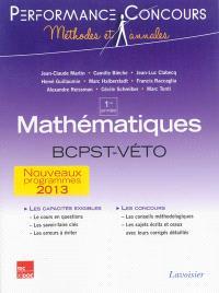 Mathématiques BCPST-Véto 1re année : nouveaux programmes 2013
