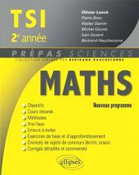 Mathématiques TSI, 2e année : nouveau programme