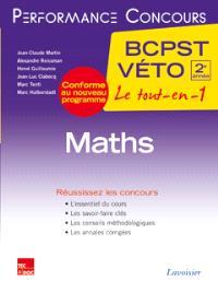 Maths, 2e année BCPST-Véto : conforme au nouveau programme