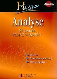 Analyse 2de année PC-PC* PSI-PSI*