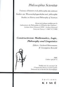Constructivism : mathematics, logic, philosophy and linguistics