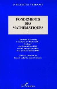 Fondements des mathématiques. Volume 1