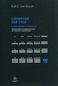 La géométrie de position - Georg Karl Christian von Staudt
