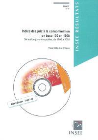 Indice des prix à la consommation en base 100 en 1998 : séries longues rétropolées, de 1990 à 2002 : division des prix à la consommation