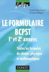 Le formulaire BCPST, 1re et 2e années : toutes les formules de chimie, physique et mathématiques