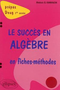 Le succès en algèbre en fiches méthodes : prépas, Deug 1re année