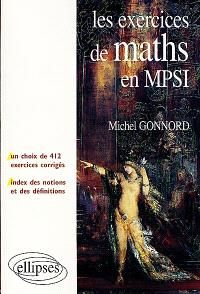 Les exercices de maths en MPSI