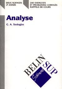 Mathématiques : 2e année DEUG. Volume 1, Analyse