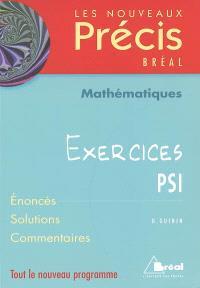 Mathématiques : exercices PSI