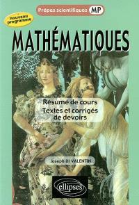 Mathématiques : résumé de cours