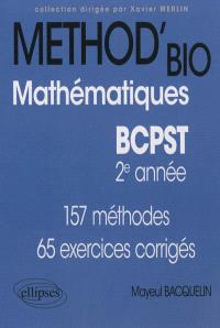 Mathématiques BCPST 2e année : 157 méthodes, 65 exercices corrigés