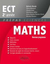 Mathématiques ECT, 2e année : nouveau programme