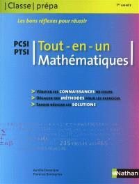 Mathématiques PCSI PTSI, 1re année : tout en un