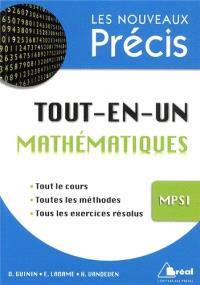 Mathématiques tout-en-un MPSI : analyse, algèbre, géométrie