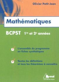 Mathématiques, BCPST 1re et 2e années