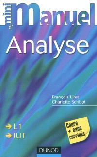 Mini-manuel d'analyse : cours et exercices corrigés