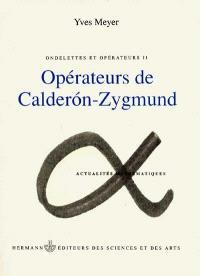 Ondelettes et opérateurs. Volume 2, Opérateurs de Calderon-Zygmund