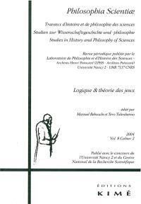 Philosophia scientiae. n° 8-2, Logique & théorie des jeux