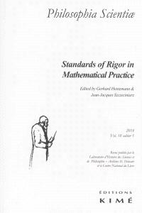 Philosophia scientiae. n° 18-1, Standards of rigor in mathematical practice