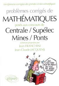 Problèmes de mathématiques posés aux concours Centrale-Supélec, Mines-Ponts
