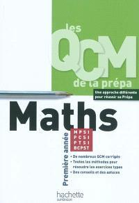 QCM maths, MPSI-PCSI-PTSI-BCPST : première année