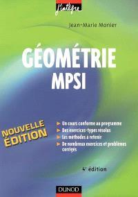 Géométrie MPSI : cours, méthodes et exercices corrigés